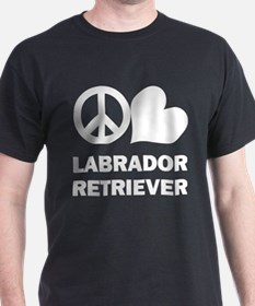 Peace Love Labrador Retriever T-Shirt