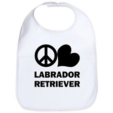 Peace Love Labrador Retriever Bib