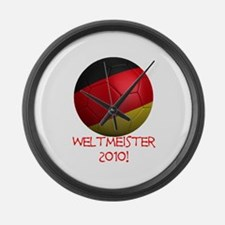 Weltmeister 2010! Large Wall Clock