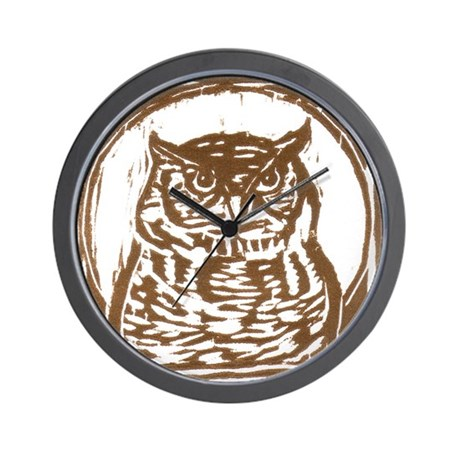 Owl - Wall Clock