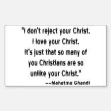 Gandhi and Christians Sticker (Rectangle)