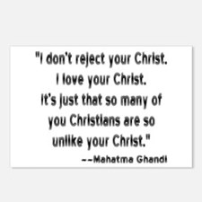 Gandhi and Christians Postcards (Package of 8)