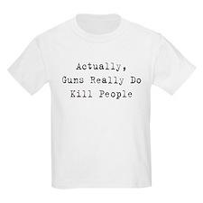 Guns Kill People Kids T-Shirt