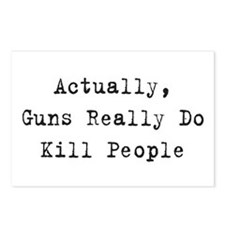 Guns Kill People Postcards (Package of 8)