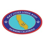 Bay Cities Lodge Sticker (Oval 50 pk)