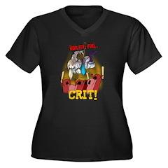 Agility: Fail Women's Plus Size V-Neck Dark T-Shir