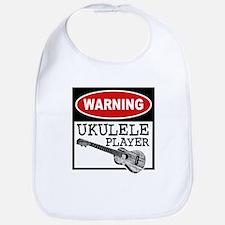 Warning Ukulele Player Bib