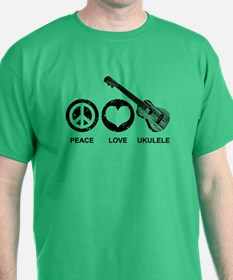 Peace Love Ukulele T-Shirt