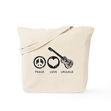 Peace Love Ukulele Tote Bag