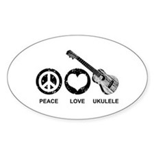 Peace Love Ukulele Decal