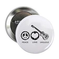 """Peace Love Ukulele 2.25"""" Button"""