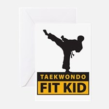 Tae Kwon Do Fit Kid Greeting Cards (Pk of 10)