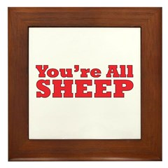 You're All Sheep Framed Tile