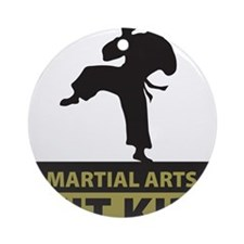 Martial Arts Fit Kid Ornament (Round)