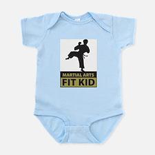 Martial Arts Fit Kid Infant Creeper