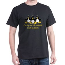 One by one, the penguins. T-Shirt