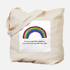 Put up with the rain Tote Bag