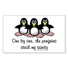 One by one, the penguins. Decal