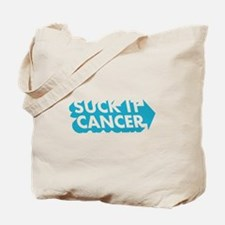 Suck It Cancer - Blue Tote Bag