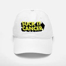 Suck It Cancer - Yellow & Bla Baseball Baseball Cap