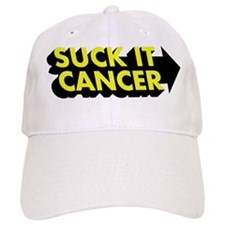 Suck It Cancer - Yellow & Bla Baseball Cap