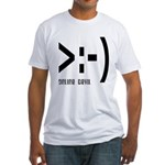 Online Devil Smiley Face Fitted T-Shirt
