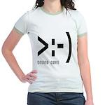 Online Devil Smiley Face Jr. Ringer T-Shirt