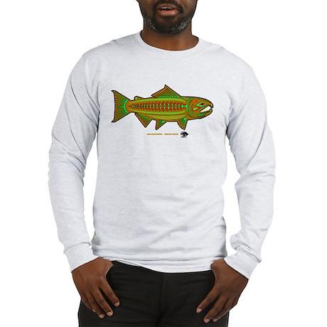 Retro Salmon. Long Sleeve T-Shirt