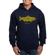 Retro Salmon. Hoodie