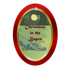 Bayou Gator Ornament (Oval)