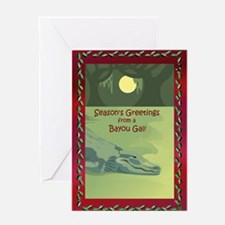 Bayou Gal Christmas Greeting Card