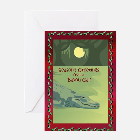 Bayou Gal Christmas Greeting Card