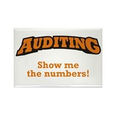 Auditing / Numbers Rectangle Magnet
