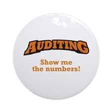 Auditing / Numbers Ornament (Round)