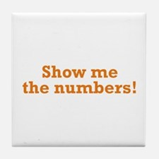 Show me the numbers! Tile Coaster