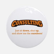 Consulting-Numbers Ornament (Round)