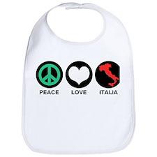 Peace Love Italia Bib