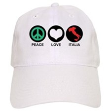 Peace Love Italia Baseball Cap