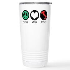 Peace Love Italia Travel Coffee Mug