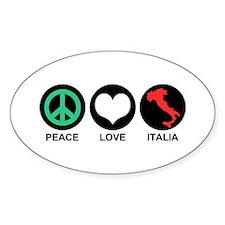 Peace Love Italia Decal