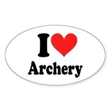 I Heart Archery: Decal