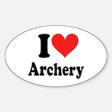 I Heart Archery: Sticker (Oval)