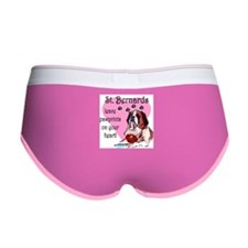 St. Bernard Pawprints Women's Boy Brief