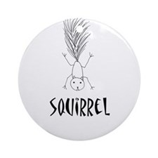Squirrel Ornament (Round)