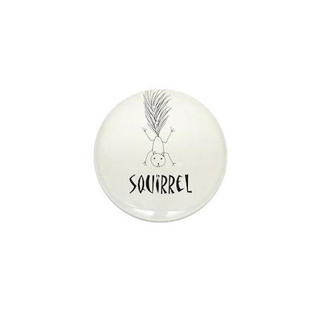 Squirrel Mini Button (100 pack)