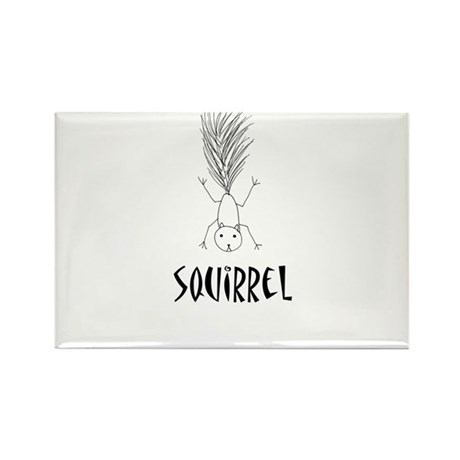 Squirrel Rectangle Magnet (100 pack)