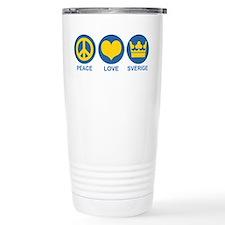 Peace Love Sverige Travel Mug