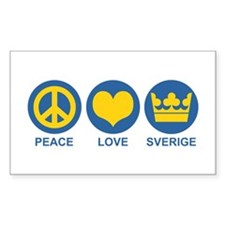 Peace Love Sverige Stickers