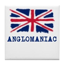 Anglomaniac with Union Jack Tile Coaster