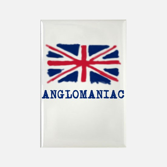 Anglomaniac with Union Jack Rectangle Magnet (10 p